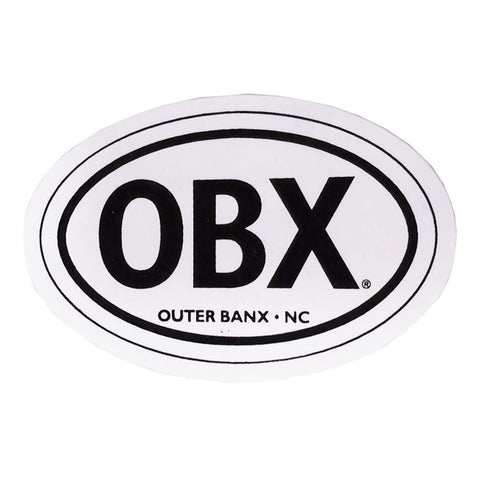 Regular Oval OBX Sticker