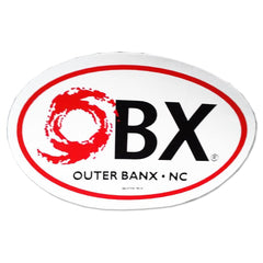 OBX Oval Hurricane Sticker