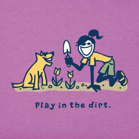 Women's Jackie And Rocket Play In The Dirt Vintage Crusher Tee - Kitty Hawk Kites Online Store