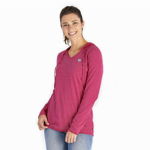 Women's Daisy Long Sleeve Hooded Smooth Tee - Kitty Hawk Kites Online Store
