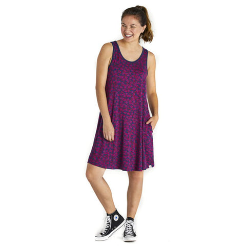 Women's Ditsy Floral Trapeze Pocket Dress - Kitty Hawk Kites Online Store