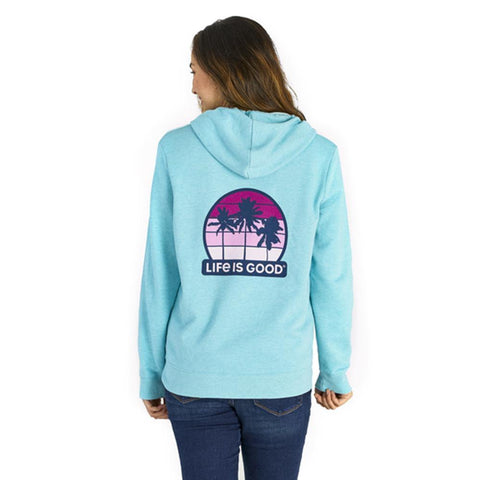 Women's Get Away Palms Simply True Zip Hoodie - Kitty Hawk Kites Online Store