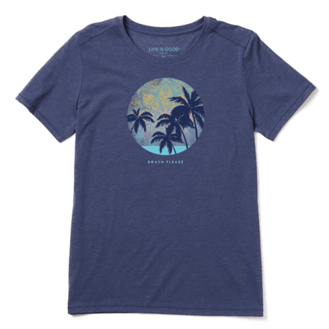 Women's Beach Please Mandala Cool Tee - Kitty Hawk Kites Online Store