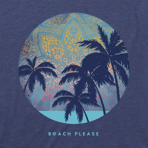 Women's Beach Please Mandala Cool Tee
