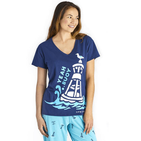 Women's Yeah Buoy Snuggle Up Relaxed Sleep Vee - Kitty Hawk Kites Online Store