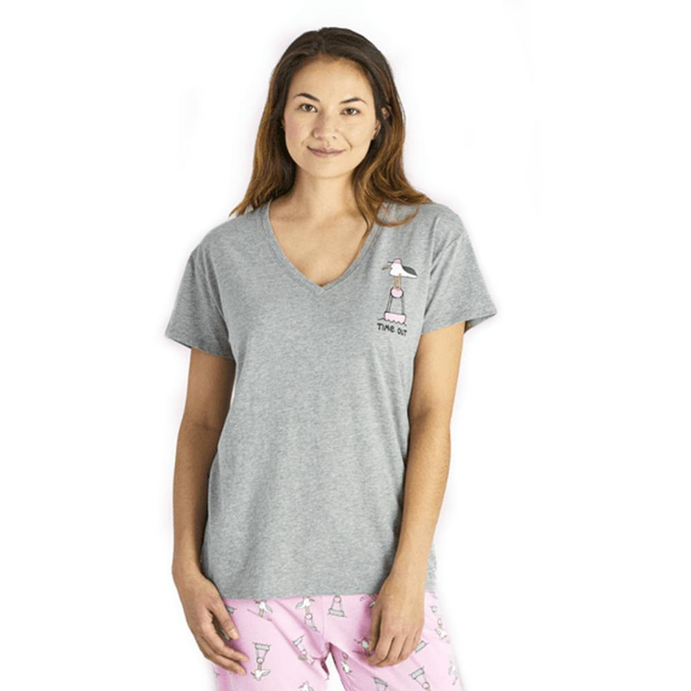 Women's Time Out Gull Snuggle Up Relaxed Sleep Vee