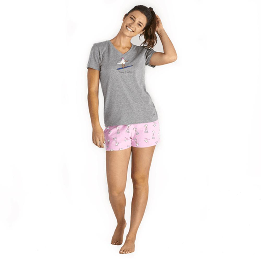 Women's Gull Print Sleep Short