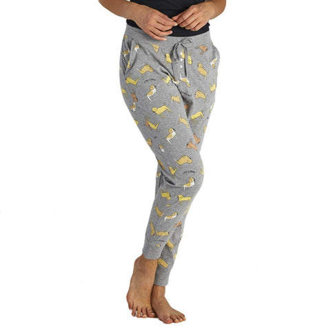 Women's LIG Dog Print Snuggle Up Sleep Jogger - Kitty Hawk Kites Online Store