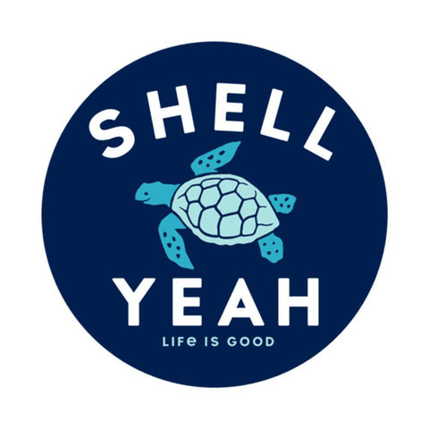 Shell Yeah 4-Circle Sticker - Kitty Hawk Kites Online Store