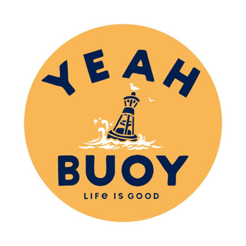 Yeah Buoy 4-Circle Sticker - Kitty Hawk Kites Online Store