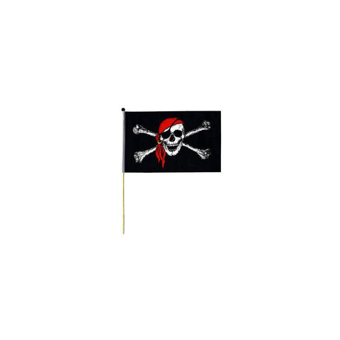 "4x6"" Pirate Flag Red Bandana on Stick - Kitty Hawk Kites Online Store"