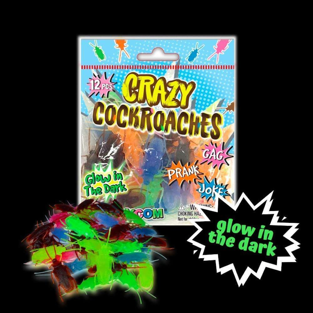 Crazy Cockroaches - Realistic and Glow in the Dark Fake Roaches