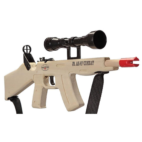 Jr. AK-47 Combat Rubber Band Gun With Scope/Sling Toy