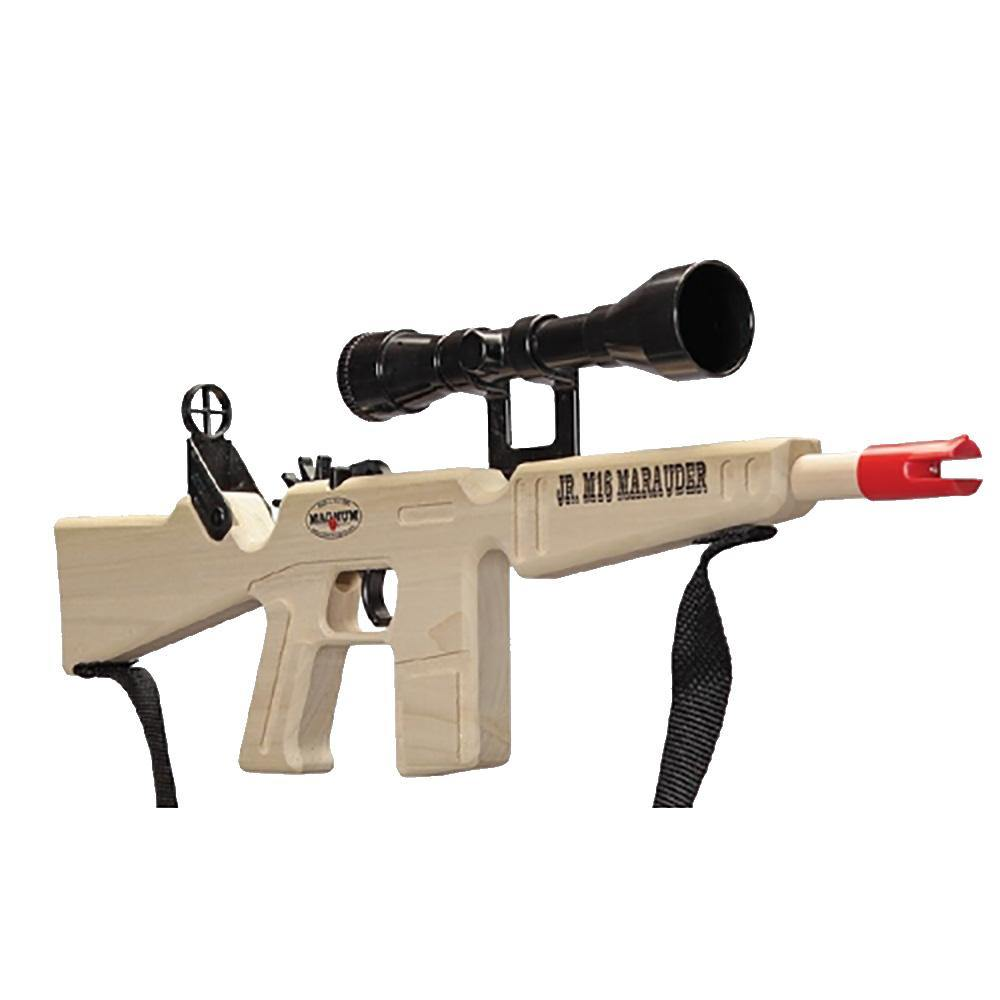 Jr. M-16 Marauder Rubber Band Gun With Scope/Sling Toy