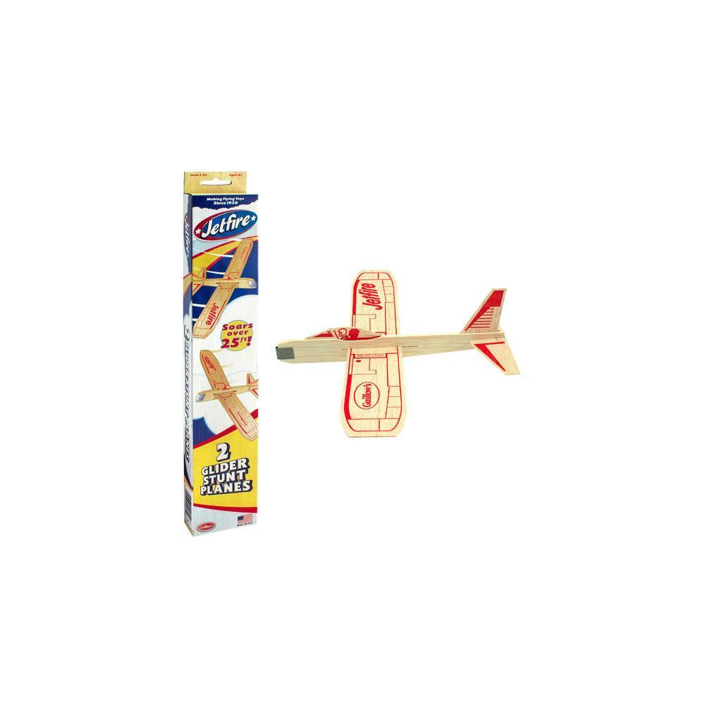 Guillows Jet Fire Balsa Wood Plane Twin Pack