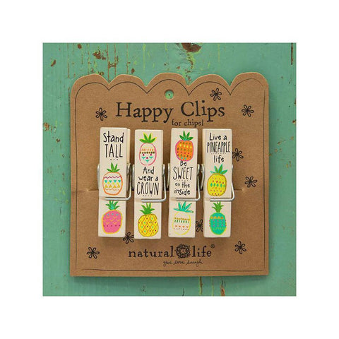 Pineapple Life Happy Clips (set of 4) - Kitty Hawk Kites Online Store