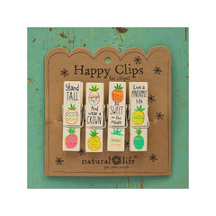 Pineapple Life Happy Clips (set of 4)