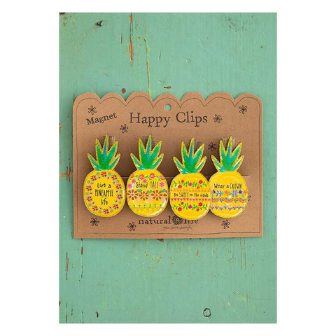 Pineapple Magnetic Happy Clips (set of 4) - Kitty Hawk Kites Online Store