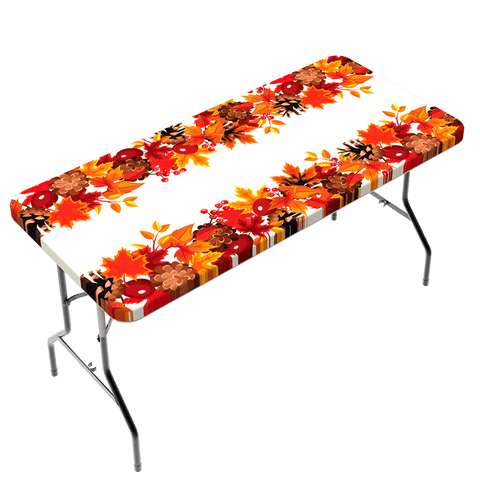 Fitted Polyester Table Cloth - Fall Design