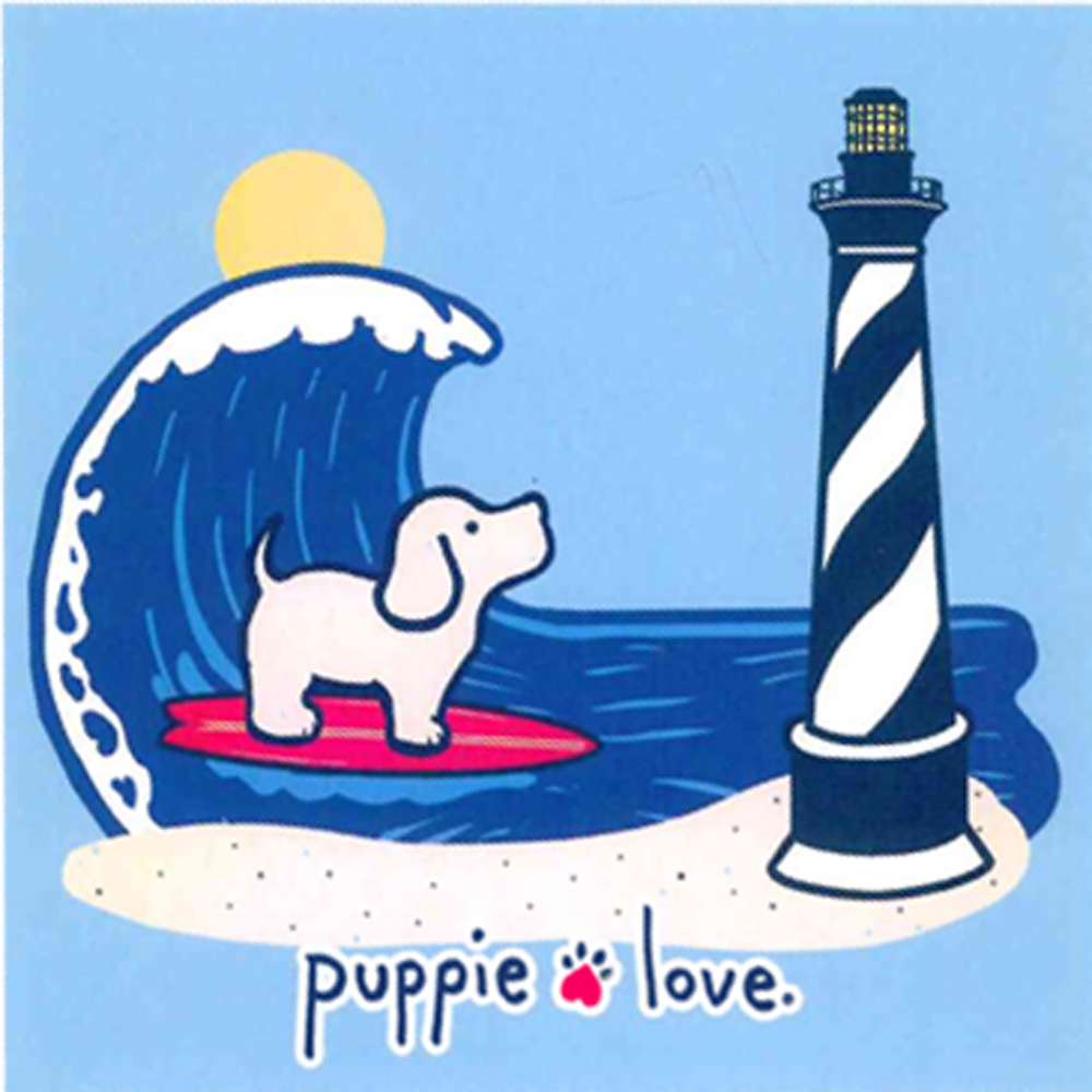 Custom Lighthouse Pup Short Sleeve T-Shirt