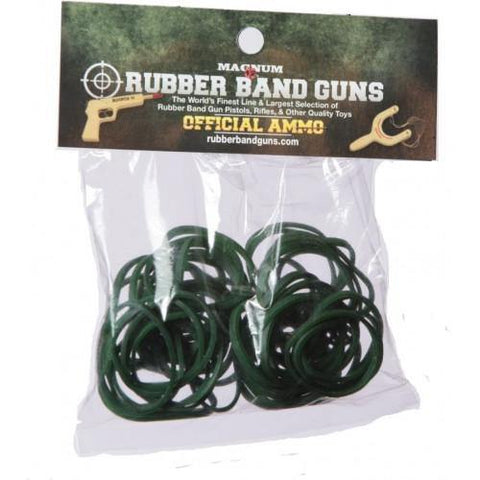 1 OZ Green Short Pistol Rubber Bands