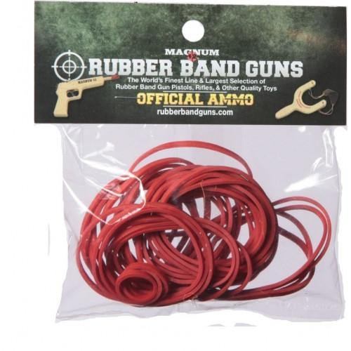 1 OZ Red Medium Pistol Rubber Bands