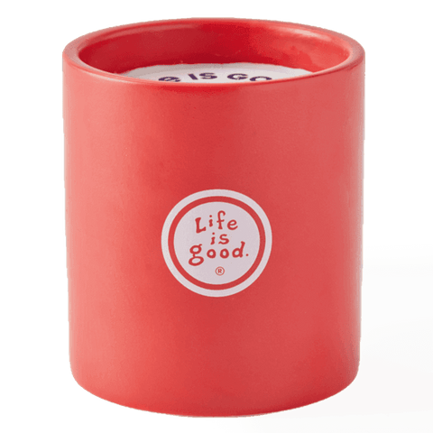 Life is Good Soy Candle - Rocket and Ace with Santa Hat
