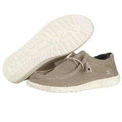 Mens Wally Stretch Shoes - Beige