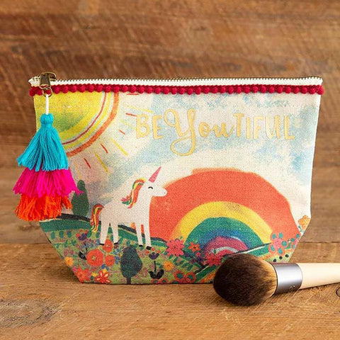 Unicorn BeYoutiful Canvas Pouch - Kitty Hawk Kites Online Store