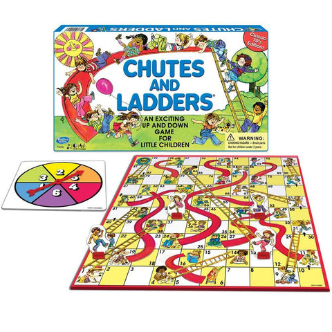 Classic Chutes and Ladders Game - 1970s Edition
