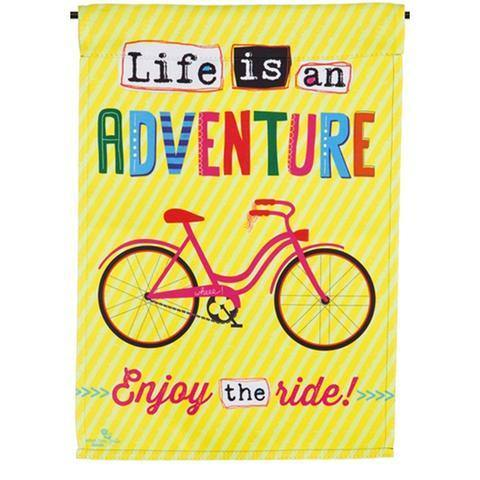Life is an Adventure Bike House Flag