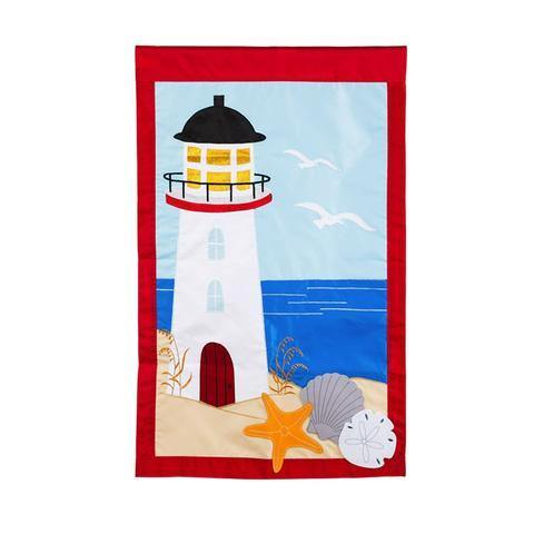 White Lighthouse House Flag