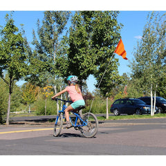 Adjustable 6 Foot Bike Safety Flag With 3 Section Pole