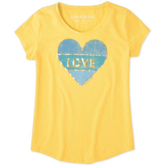 Girls Love, Heart, Happy Smooth Tee