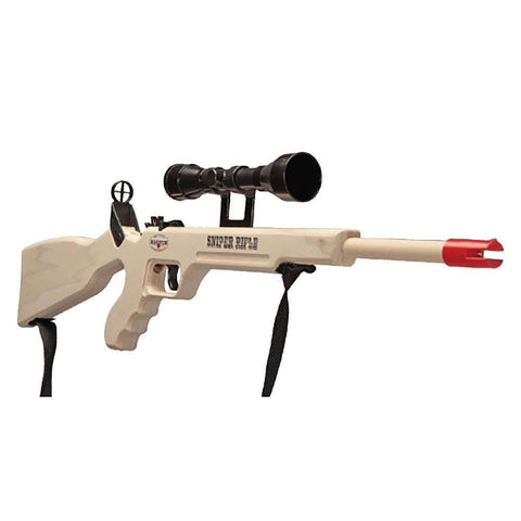 Sniper Rifle Rubber Band Gun With Scope/Sling Toy - Kitty Hawk Kites Online Store
