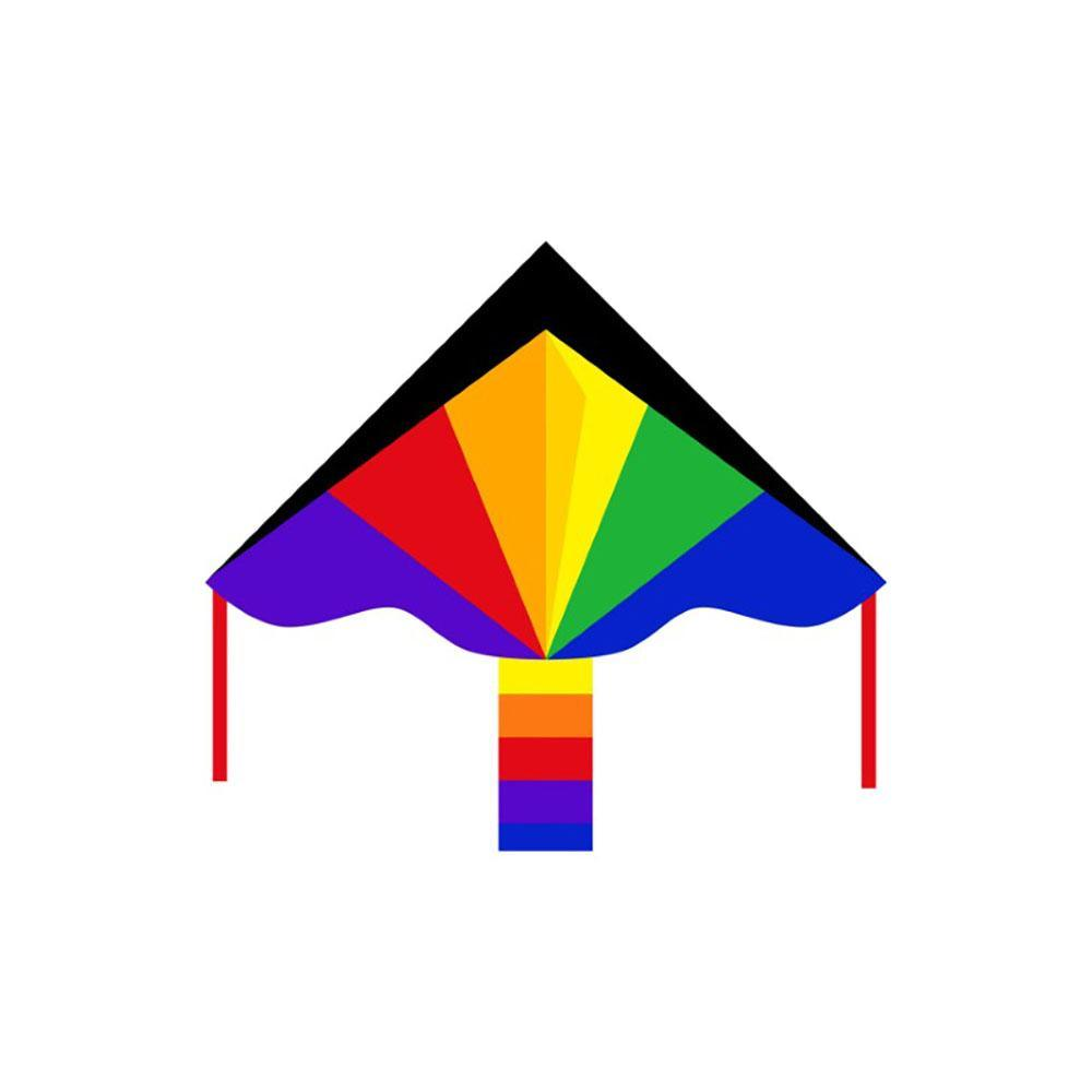 Eco Line Simple Flyers - Rainbow Large Delta Kite - Dp