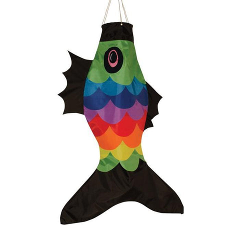 "36"" Rainbow Fish Windsock"