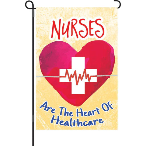 Nurses Heart Garden Flag