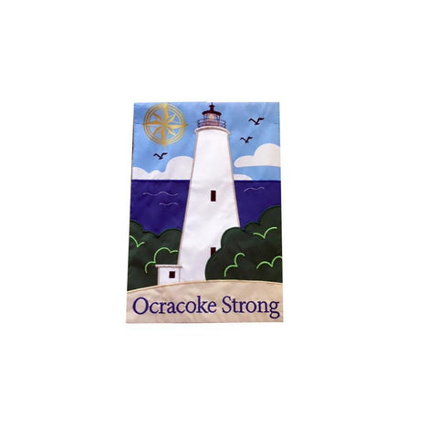 Custom Ocracoke Strong Embroidered House Flag
