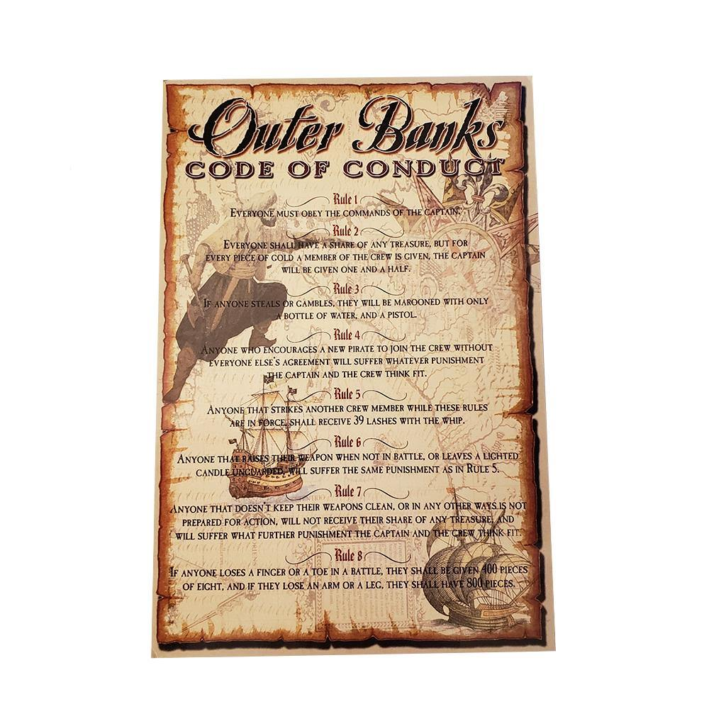 Outer Banks Pirate Code of Conduct Postcard - Kitty Hawk Kites Online Store
