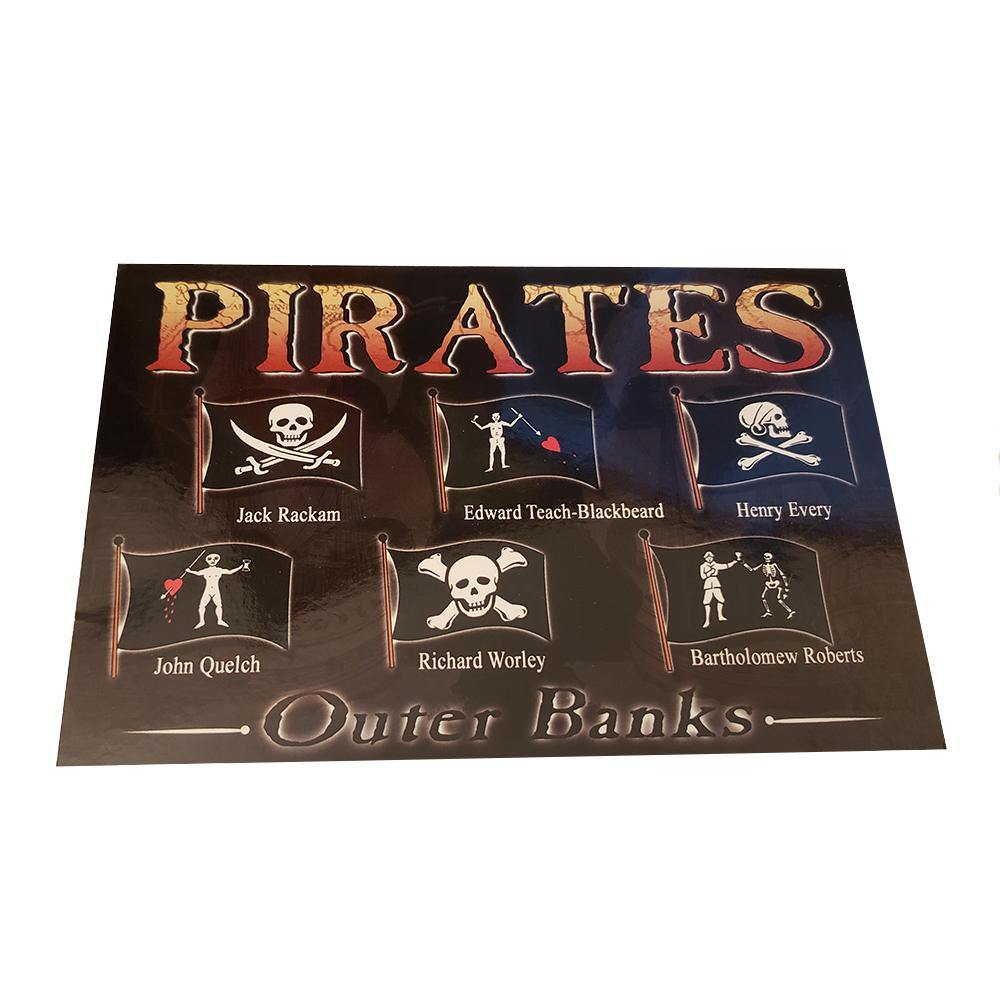 Outer Banks Pirate Flags Postcard