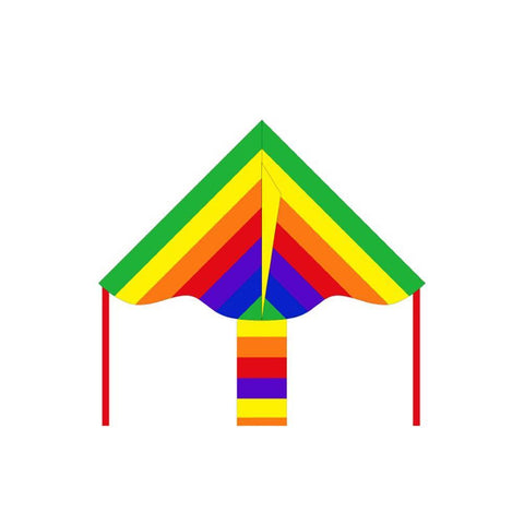 Eco Line Simple Flyers - Rainbow Delta Kite - Dp