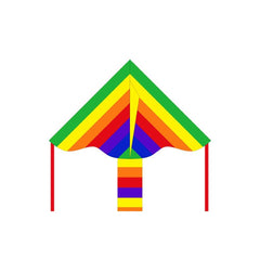Eco Line Simple Flyers - Rainbow Delta Kite