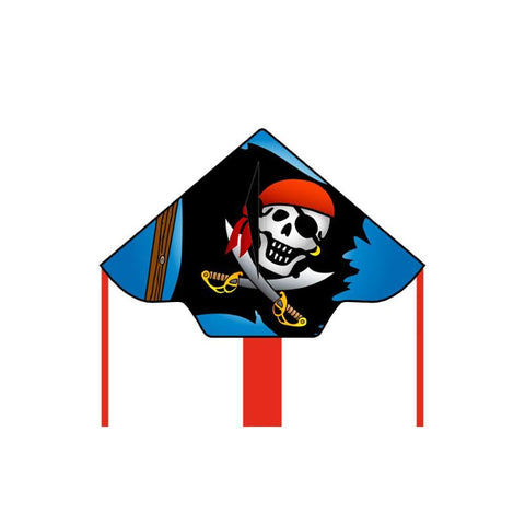 Eco Line Simple Flyers - Jolly Roger Large Delta Kite - Dp