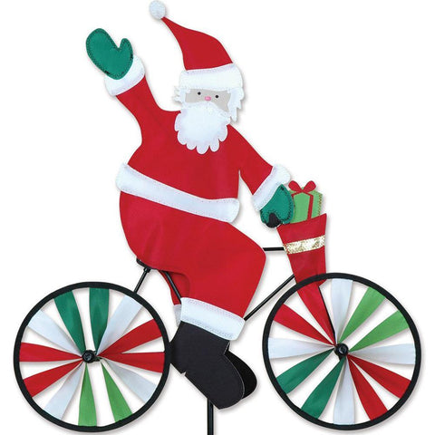 Small Santa On Bike Spinner