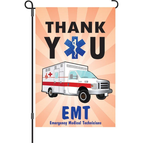 Thank You EMT Garden Flag
