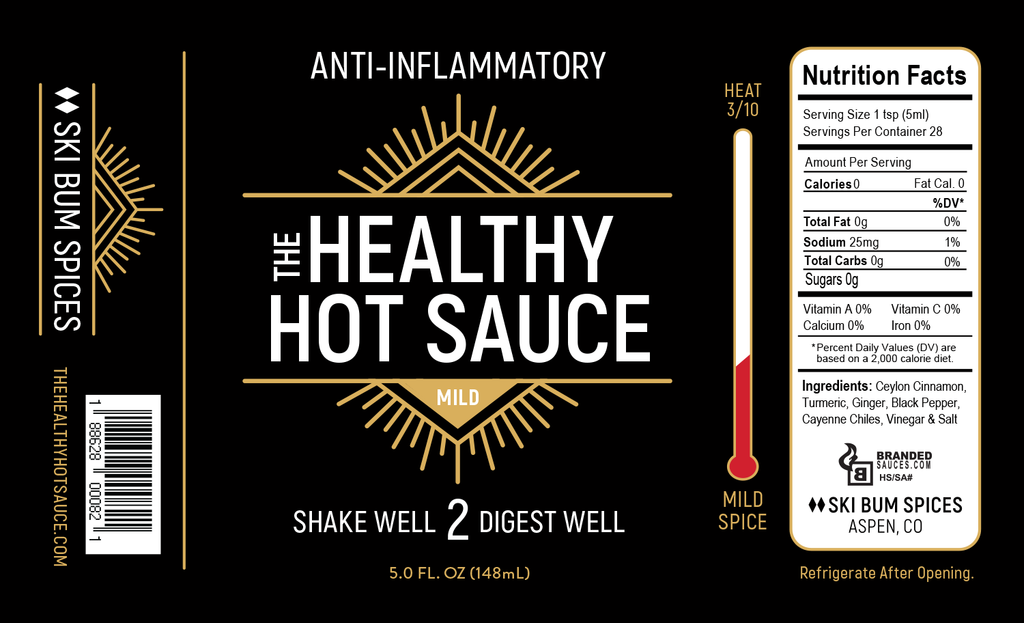 Anti-Inflammatory MiLD Hot Sauce