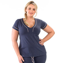 Curvy Tee - Grape -  Plus Size Gym Clothes | Plus Size Sportswear | Charlotte Jackson Womenswear