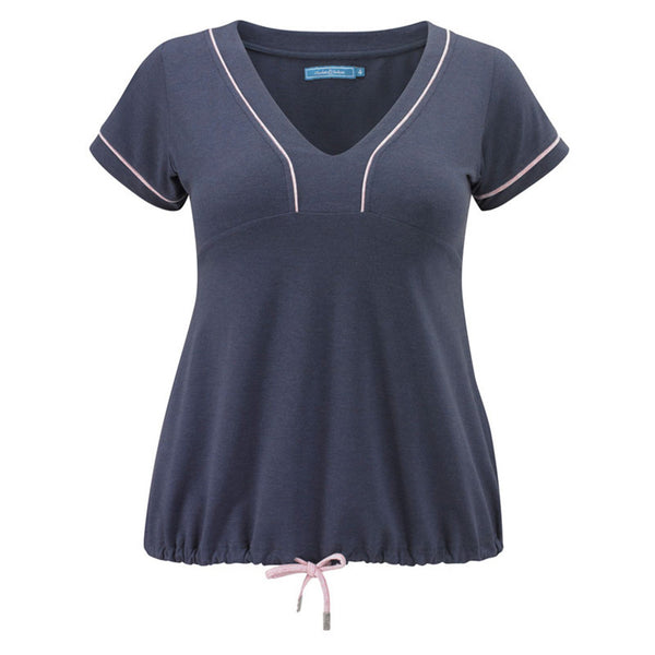 Plus size sportswear - curvy tee in grape marl - tied