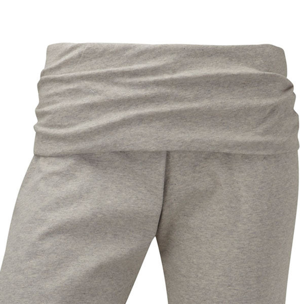 Plus size sportswear - curvy capri ruched waistband light grey